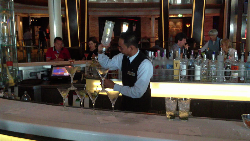 Back at the Martini Bar and watched him make another Martini Sampler. I think he has done this a few times. The 2nd of the videos.