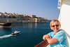 Looking out at Valletta from our balcony.