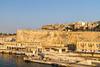 Arriving in Valletta, Malta.