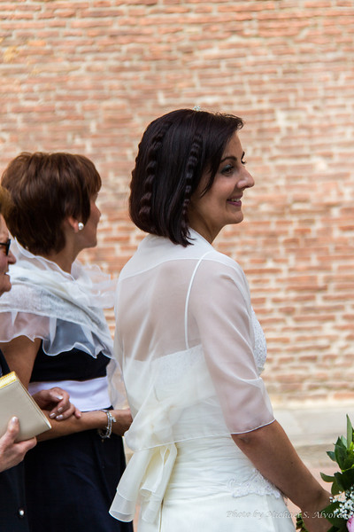 When we were touring the church there was a weding taking place, this is the bride.