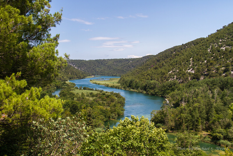 The excursion was to the Krka National Park on the Krka river. The river has many breathtaking views of a series of cascades.
