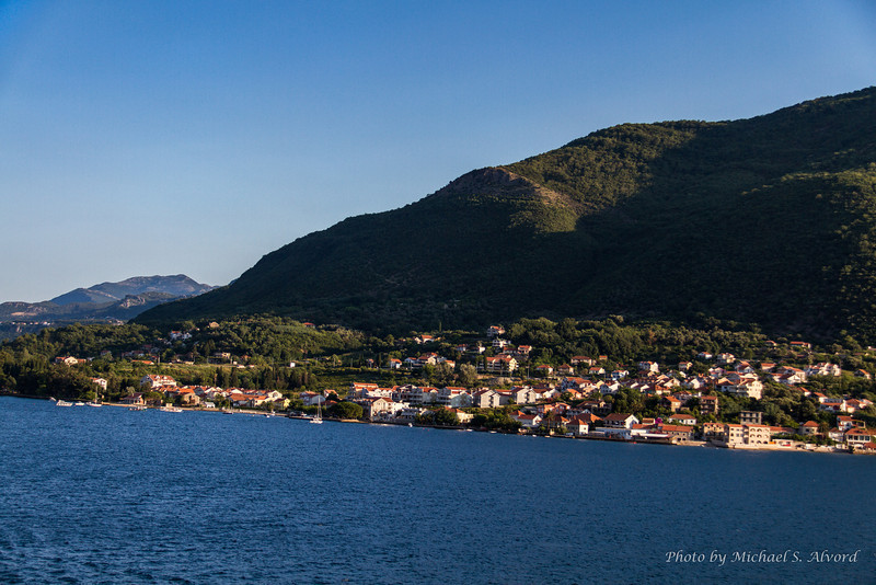 The view from our balcony as we were coming into Kotor.