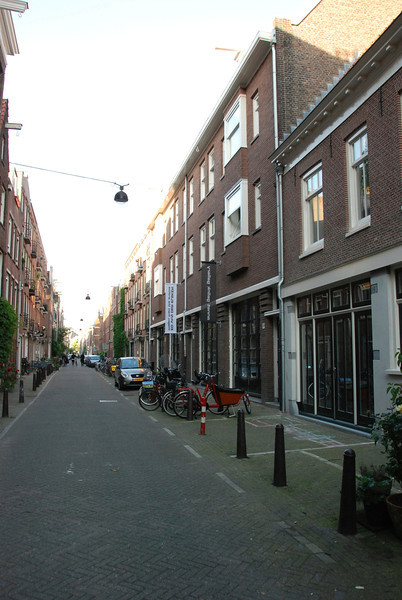 Amsterdam! This is the street that leads to our flat.
