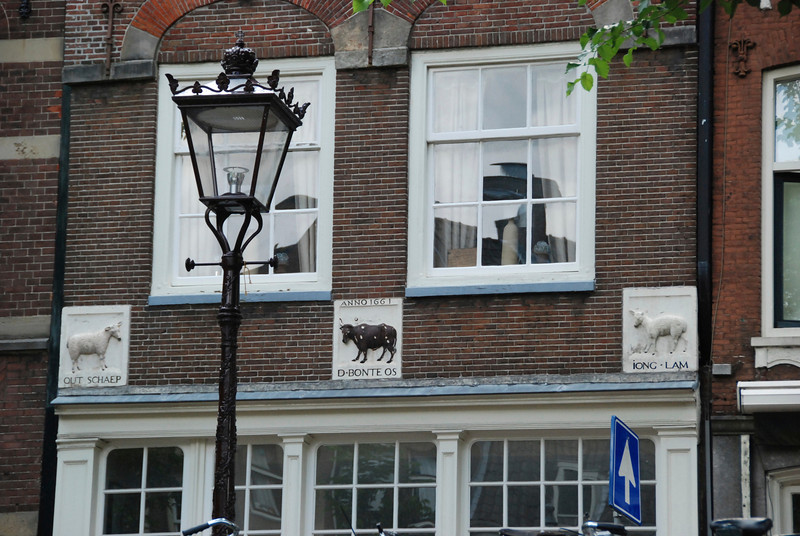 Amsterdam did not have addresses until the 17th century. People identified their homes with plaques like this.