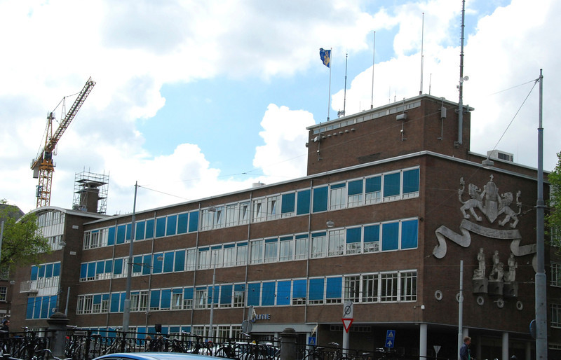 Amsterdam police headquarters.