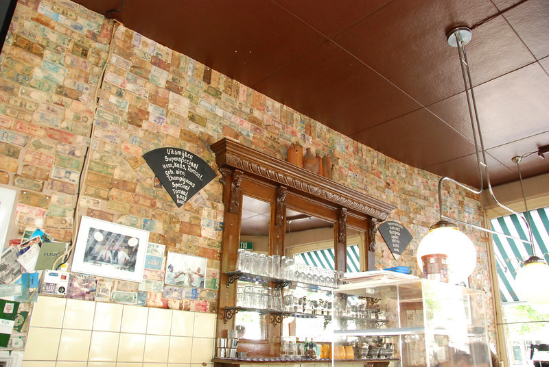 We had breakfast in this restaurant.  The decor is currency from all over the world.