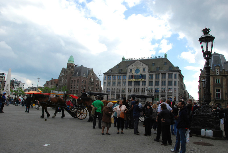 At the Dam Square.