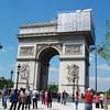 Sunday, May 18. First stop: Arc du Triomphe, which was being renovated.