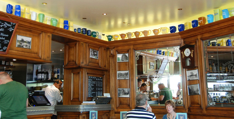 The restaurant where we ate lunch. Teapots lined the shelves.