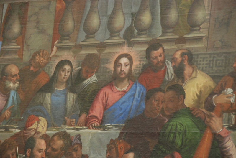 "Closeup of DaVinci's ""The Last Supper."""
