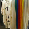 The cathedral treasures room: These vestments were worn by Pope John Paul II during his visit.
