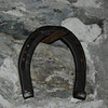 A horseshoe in the blacksmith's shop.