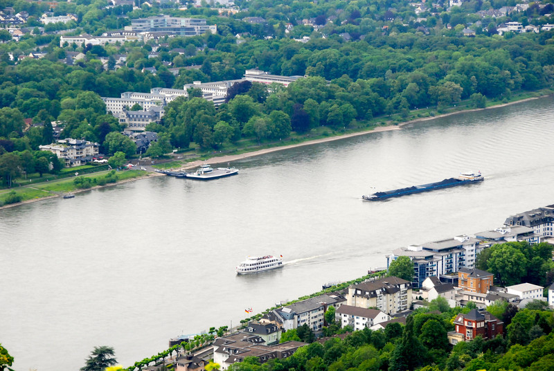 Ships on the Rhine.