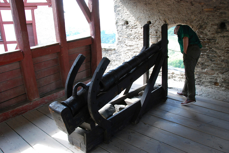 Cannons were brought in at the beginning of the 17th century.