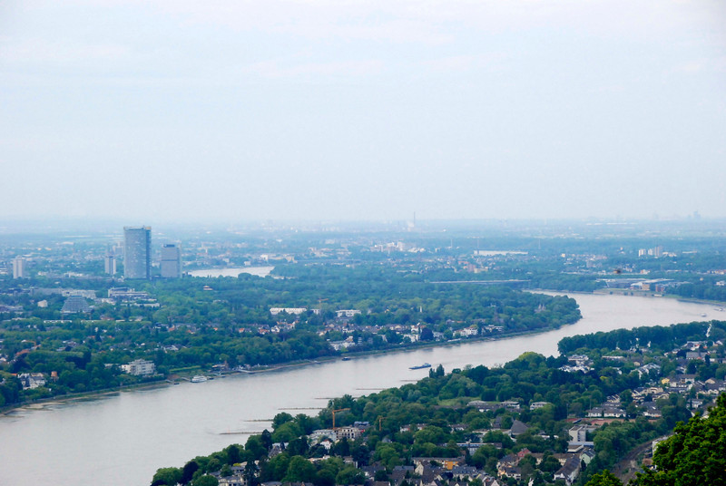 View of Bonn. The tallest building is the Deutsch Post Tower.