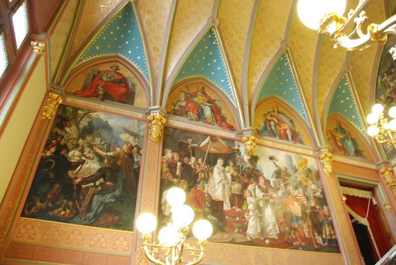 Paintings in the hallway