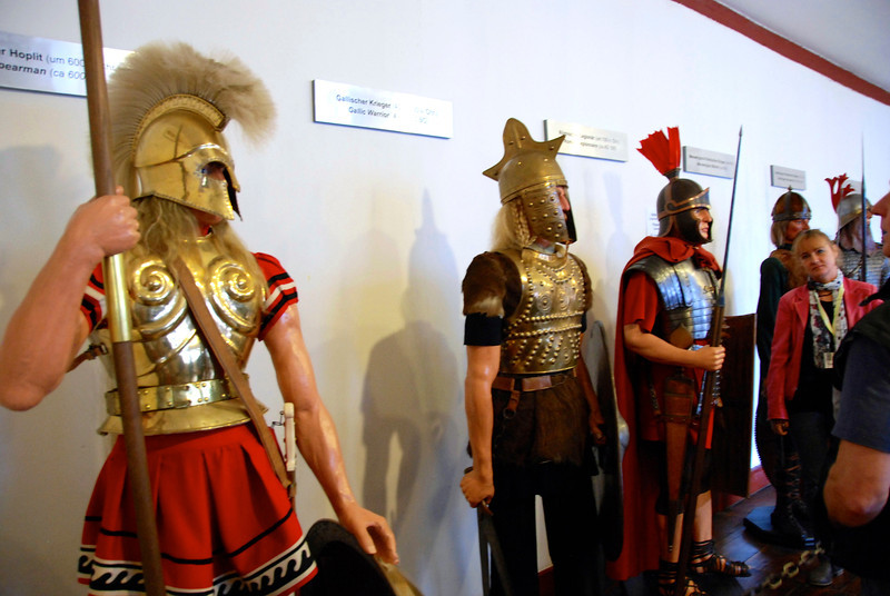 Armor and weapons are displayed in this room.
