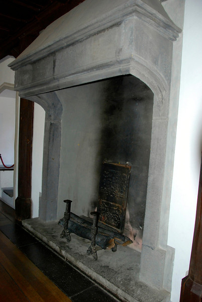 Hearth in the Great Hall.