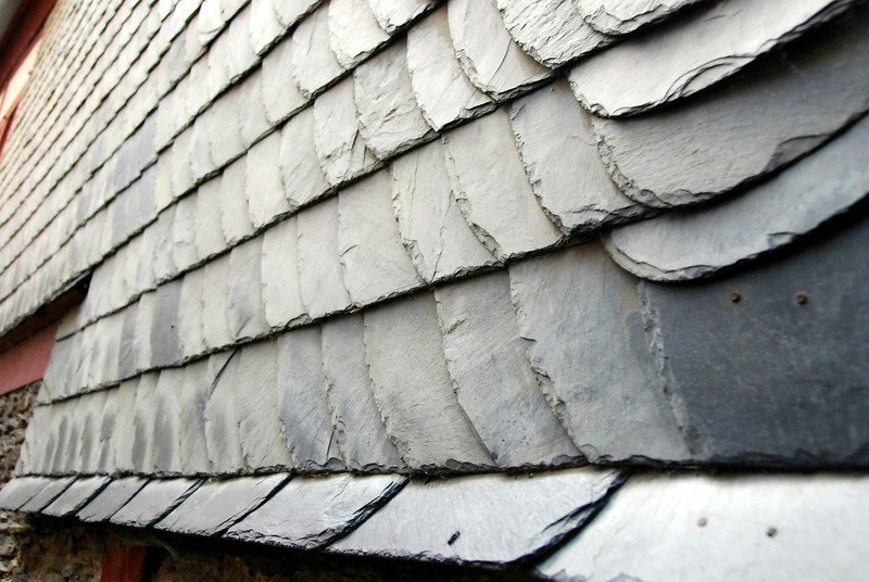 Shingles on the roof.