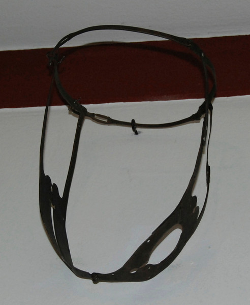 This is a chastity belt. Women put them on when they traveled or if the castle was being attacked.