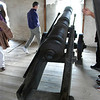 This cannon had a recoil of about four feet.
