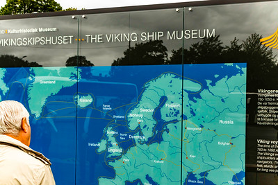 Viking long boat museum