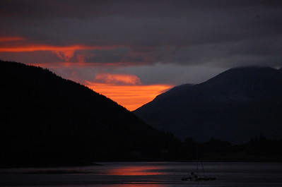 Sunset at Loch Leven