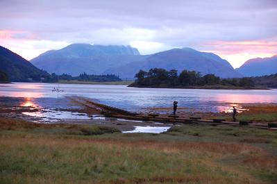 Sunset at Loch Leven , Glencoe