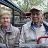 Bus tour of Berlin. Hildegard and Papa.