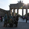 Scenes from around the Brandenburg Gate. <br /> <br /> Berlin, Germany