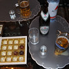 Beer, schnaspe and a chocolate truffle at Tanta Christa's and Onkel Peter's place. <br /> <br /> Hannover, Germany