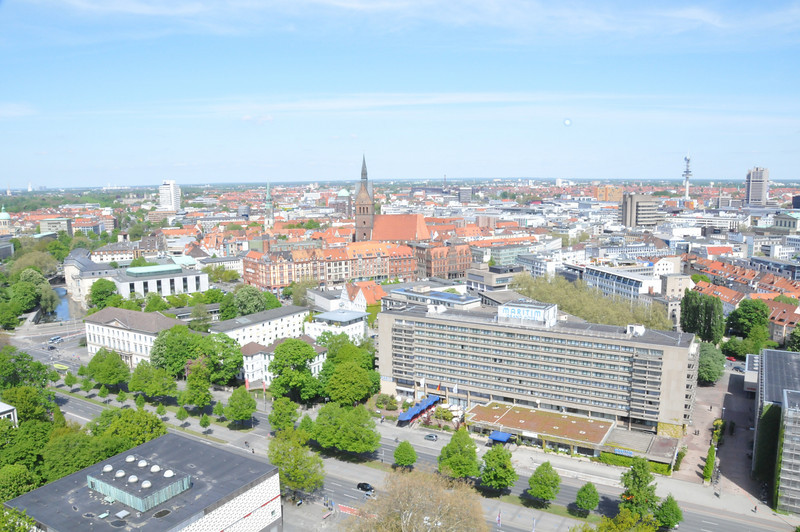 View from the top of city hall. <br /> <br /> Hannover, Germany