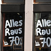 """So this is what a """"going out of business"""" sign looks like in Austria. It says """"Everything Out"""""""