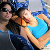 Patty and Bri snoozing on the bus on the way to Pompeii.
