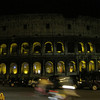 The Coliseum at night.