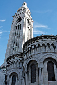 Tower at back of Sacre Coeur