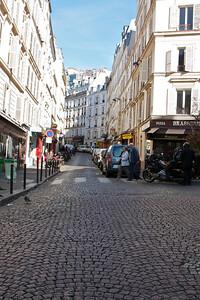 Street view in Montmartre