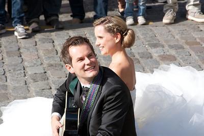 Newlyweds at Sacre Coeur