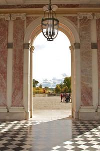 Looking through the main entrance of Le Grand Trianon