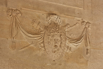 Head of Medusa inside of Le Petit Trianon