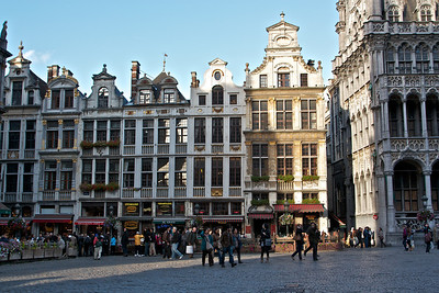The northwest corner of Grand Place