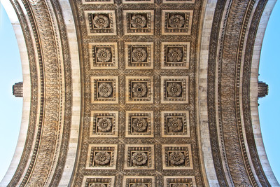 Underside of the Arc de Triomphe