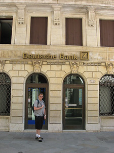 The German bank in Italy threw us off a bit.