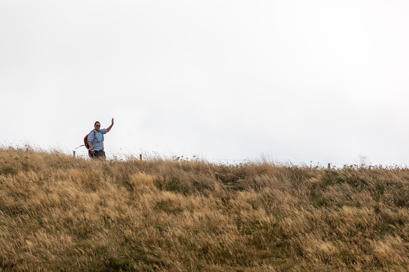 Dennis at summit of Puy-de-Dome