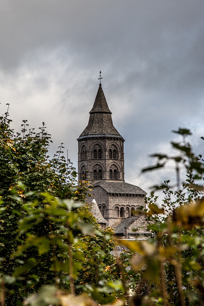 Orcival Basilica tower