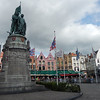 Market Square with the monument to Jan Breydel, a butcher by trade and Pieter de Coninck a weaver by trade, two heroes of Bruges from the 14th century.  The apparently led an uprising and revolt in 1302 freeing Bruges from French occupation.
