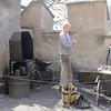 Blacksmith outside Karlstejn Castle.