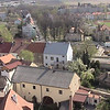 View looking down on Louny from Cathedral.