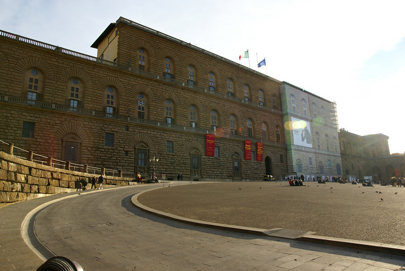 The Palazzo Pitti.  Florence, Italy
