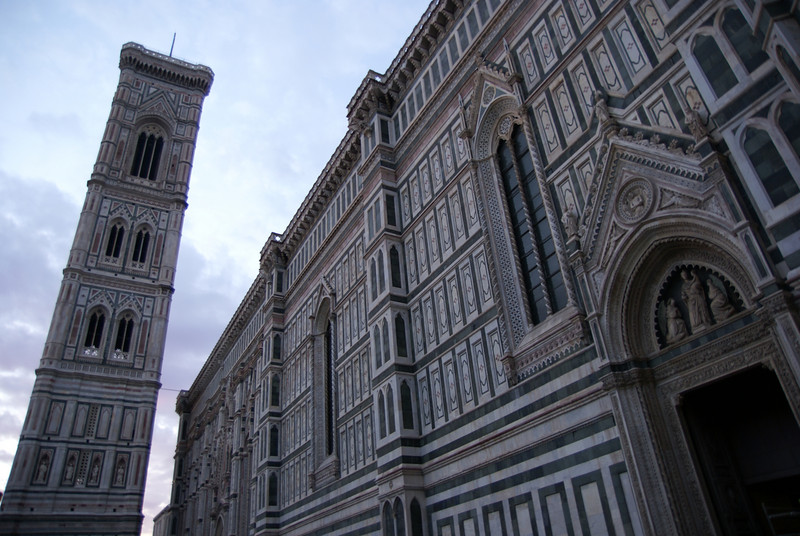 Bell tower and Florence Duomo